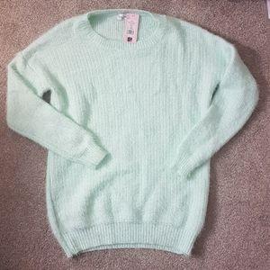 * Showpo Ice Blue Fuzzy Knit Pullover Sweater S/M